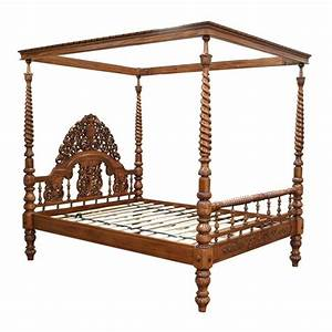 Bed ornate asian furniture indian