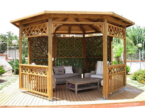 gazebo esagonale in legno vivereverde salotto da giardino carrefour salotto da