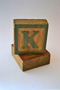 vintage wooden alphabet block letter quotkquot With vintage wooden alphabet letters