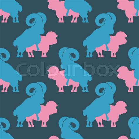 Sheep Sex Pattern Farm Animal Stock Vector Colourbox
