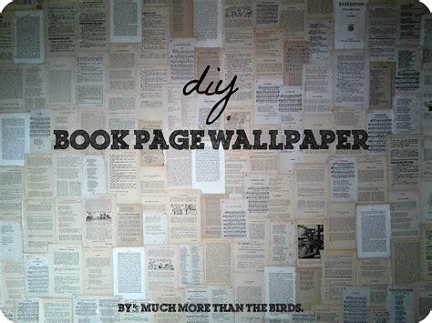 Diy Book Page Wallpaper