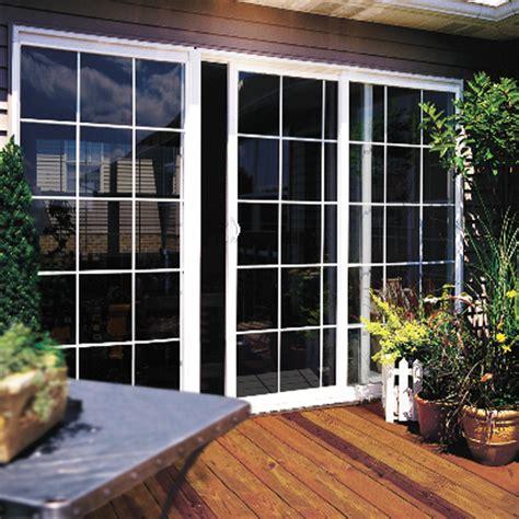 builders vinyl sliding patio door