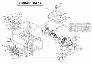 Powermate Formerly Coleman Pm0496504 17 Parts Diagram For