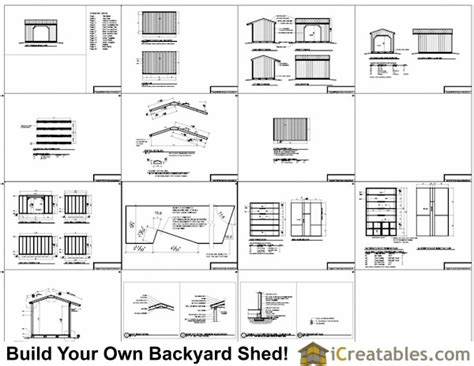 8x12 firewood shed plans icreatables