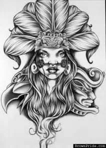 Aztec Queen Tattoo Drawings