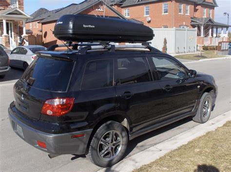 Mitsubishi Outlander Roof Rack by Sportrack A26395 Aero 1300 Roof Box Thule Complete