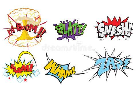 Comic Action Words Stock Illustration. Illustration Of