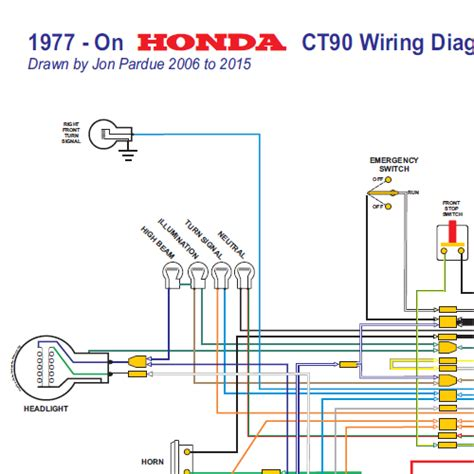 1977 Honda Ct70 Wiring Schematic honda ct90 wiring diagram 1977 on all systems home of