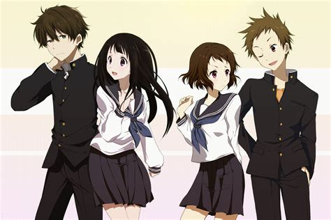 anime like hyouka with more romance anime hyouka mayaka ibara eru chitanda hōtarō oreki