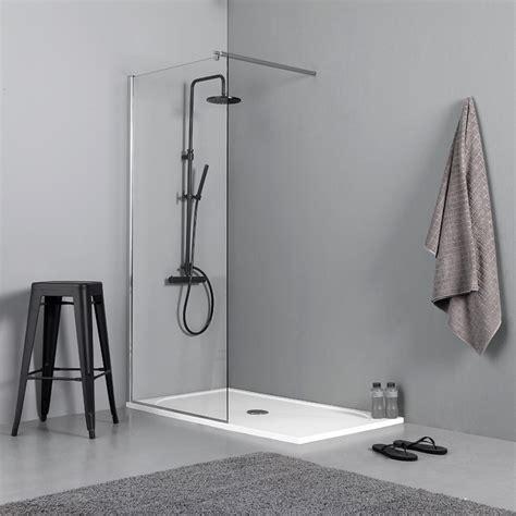 parete doccia walk in box doccia walk in parete fissa 100cm vetro trasparente