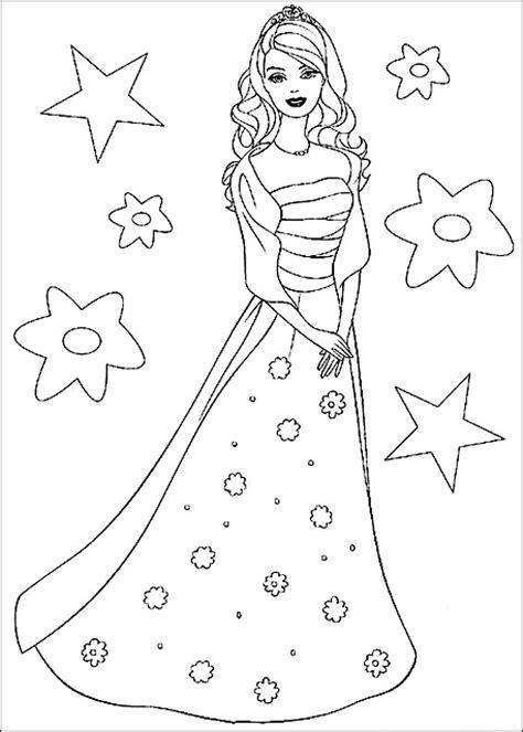 disegni da colorare barbie principessa bella risorse