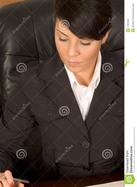 executive assistant woman  business suit writing royalty