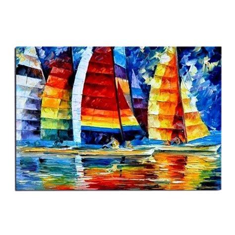 peintures a l huile sur toile tableau voilier bateau navire peinture 224 l huile sur toile fait contemporain