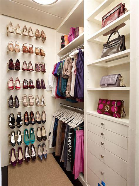 black shoe shelves contemporary closet deleon
