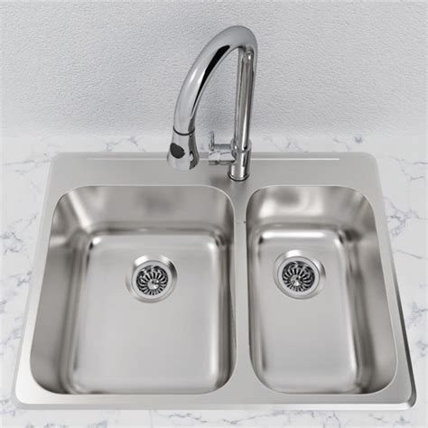 overmount stainless steel sink cantrio koncepts stainless steel 1 1 2 bowl overmount
