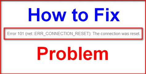 fixed chrome err connection reset windows error issue