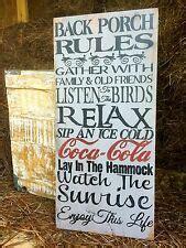 Primitive Porch Signs Ebay