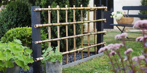 fabriquer une palissade en bambou pour le jardin marie