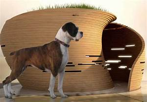 Kpf39s william pedersen designs an ultra modern doghouse for Cool dog kennel designs