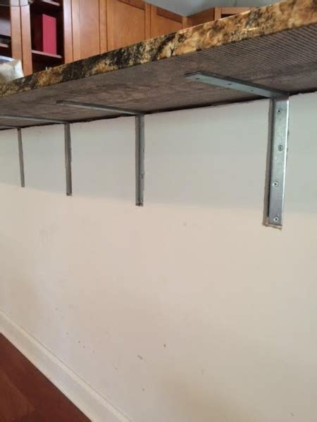 Granite Supports On BreakFast Bar   Drywall Repair