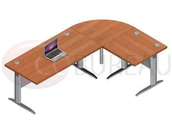 bureau 90 cm de large ensemble bureau 160 cm pro métal avec angle de liaison 90