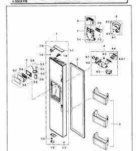 Parts For Samsung Rh25h5611sr  Aa    0002  Door