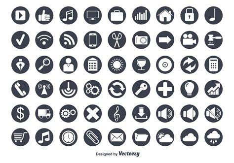 flat vector icon set download free vector art stock