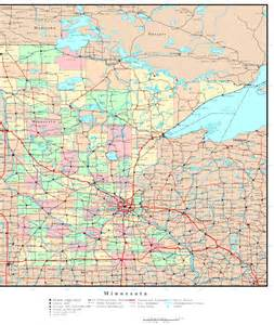 mn road map minnesota political map