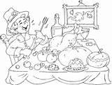 Coloring Thanksgiving Feast Pilgrim Pages Pilgrims Printable Children Sheets Print sketch template