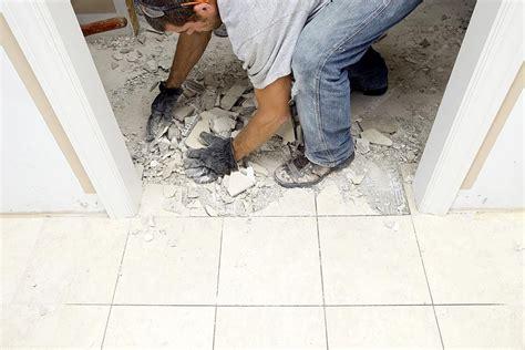 demolish  marble flooring tile