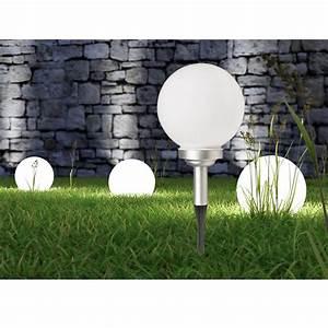 Lampe De Jardin : lampe solaire globe de jardin 20 cm maison fut e ~ Teatrodelosmanantiales.com Idées de Décoration