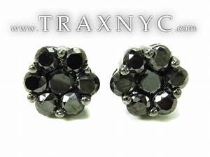 Black Diamond Earrings 36942 Mens Black Diamond Earring ...