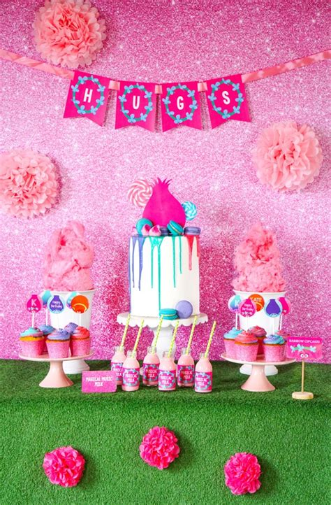 trolls birthday party inspiration