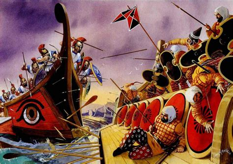 guerre greco persiane the fleet salamis weapons and warfare