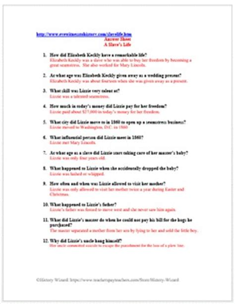 slavery primary source worksheet a s by