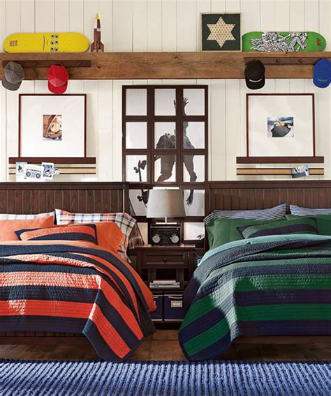 Rugby Stripe Quilt  Boys Lighweight Quilt Set