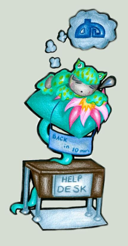 deviantart help desk froggie fella at the help desk by darkest of days on