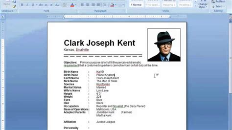 To Create Resume In Microsoft Word 2007 by Ms Word Tutorial How To Insert Picture In Resume