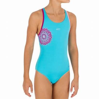 Swimsuit Piece Swimsuits Purple Leony Decathlon Swimwear