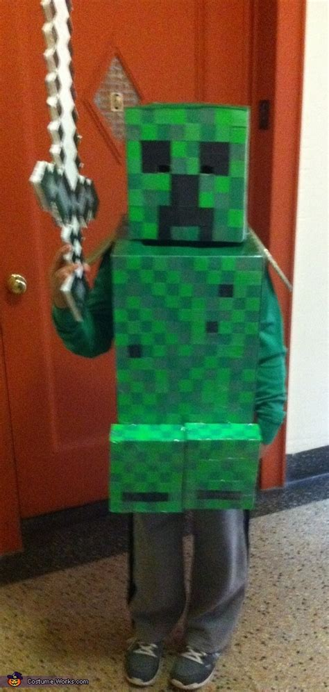 homemade minecraft creeper costume photo