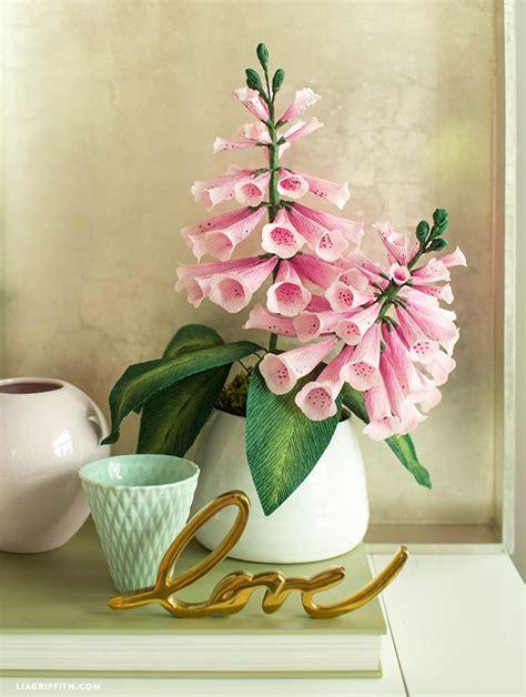create  beautiful crepe paper foxglove flowers