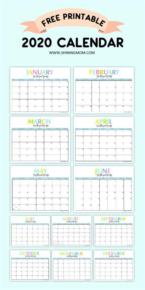 printable calendar beautiful colorful calendars