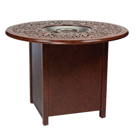 bar height patio table with fire pit woodard counter height aluminum fire pit table with napa