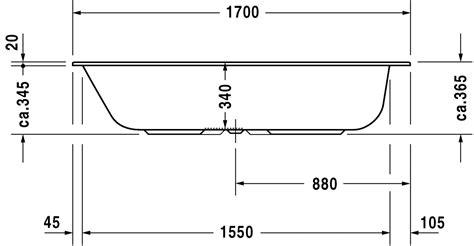 taille baignoire standard duravit durastyle bathtubs baignoire avec pieds 700235 by duravit