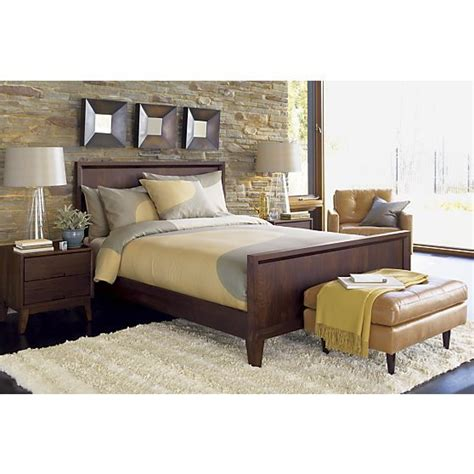 steppe bed crate and barrel neutral bedrooms