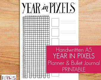 year in pixels template 2018 2019 horizontal calendar bullet journal starter kit