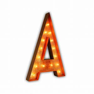 rusty 36 inch letter a marquee light by vintage marquee lights With marquee letter a