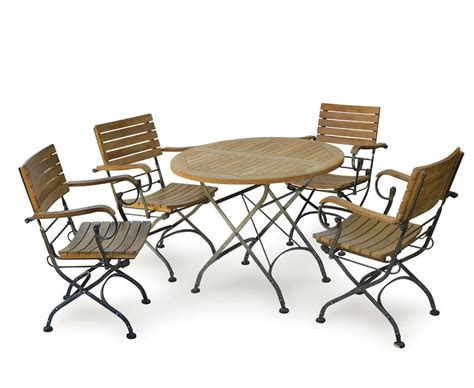 bistro table and 4 chairs garden round bistro table and 4 arm chairs