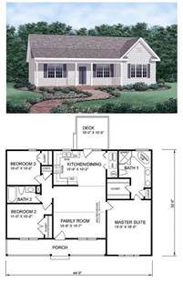 3 bedroom 2 bath floor plans ranch homeplan 45476 has 1258 square of living space 3 bedrooms and 2 bathrooms central