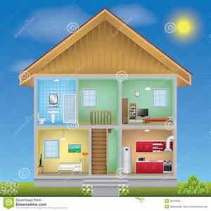 Detailed House Interior Stock Illustration  Illustration